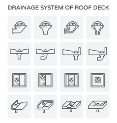 Drainage system icon vector