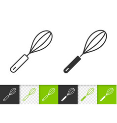 egg beater simple black line icon vector image