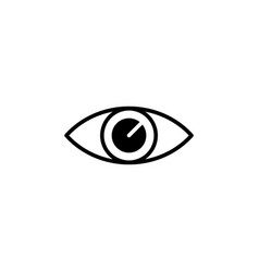 eye icon black on white vector image