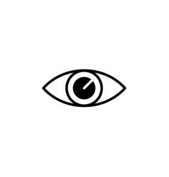 eye icon black on white vector image