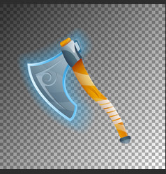 fantasy warrior axe isolated game element vector image