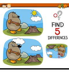 Find differences task vector