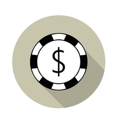 fish poker icon vector image