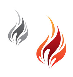 flame icon minimalist vector image