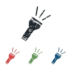 Flashlight grunge icon set vector