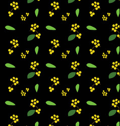 flower and branch pattern vector image