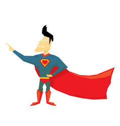 Funny comic super hero vector