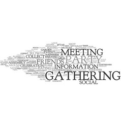 Gathering word cloud concept vector