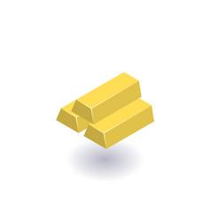 gold bars icon symbol vector image