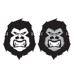 Gorilla head mascot vector
