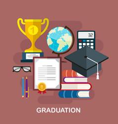 graduation concept vector image