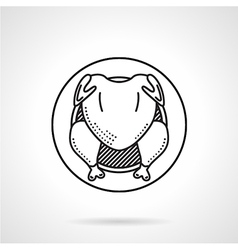 Grilled chicken black line icon vector image
