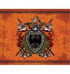 heraldic coat arms vector image