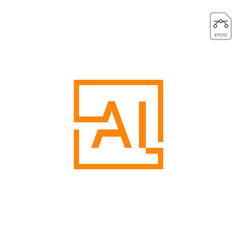 Initial ai logo or symbol business company icon vector