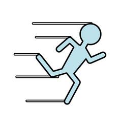 Man running pictogram vector