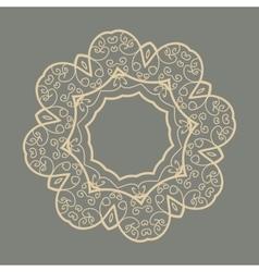 Mandala Doodle Print vector image
