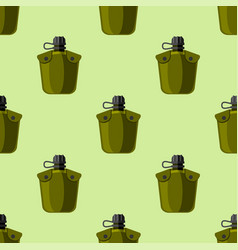 military or outdoor travel water flask vector image