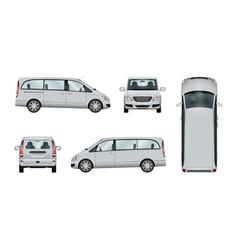 minivan template vector image