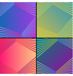 modern abstract background set vector image