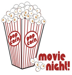 Movie Night Popcorn vector