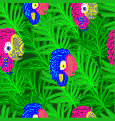 neon seamless pattern vector image
