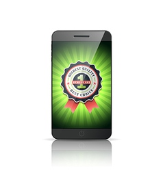 Number 1 best choice smart phone vector