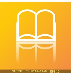 Open book icon symbol Flat modern web design with vector image