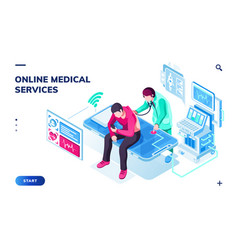 page for online medical or healthcare services vector image