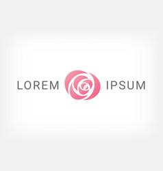 pink rose curve logo design template vector image