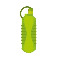 Plastic bottle water portable gym element vector