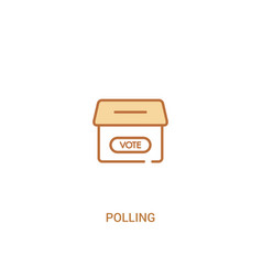 Polling concept 2 colored icon simple line vector