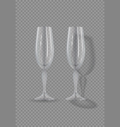 realistic empty glasses of champagne vector image