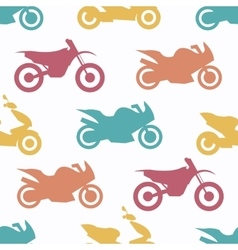 Retro motorcycle seamless pattern vector