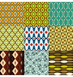 Retro pattern collection vector