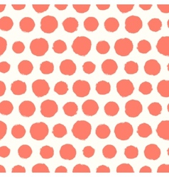 Seamless pattern with painted polka dot texture vector image