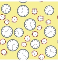 Seamless pattern with watches 574 vector image