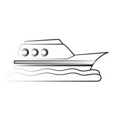 ship boat vehicle vector image