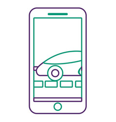 Smartphone gps navigation car on road vector