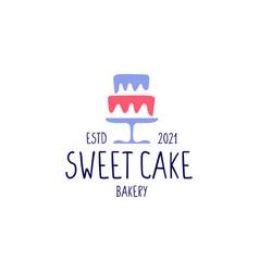 sweet cake bakery shop logo icon vector image