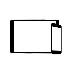 tablet computer and smartphone vector image