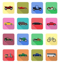 transport flat icons 60 vector image