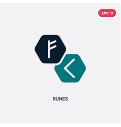 Two color runes icon from magic concept isolated vector
