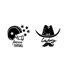 usa logo badges set american national symbols vector image