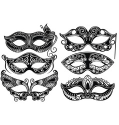 venetian carnival masks vector image