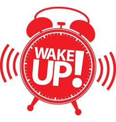 Wake up alarm clock icon vector image