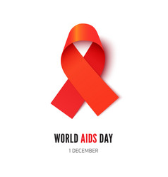 World aids awareness day symbol realistic vector