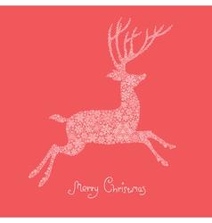 xmas deer vector image