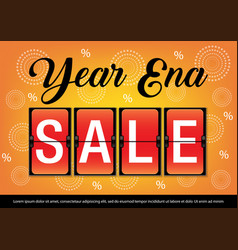 Year end sale banner image vector