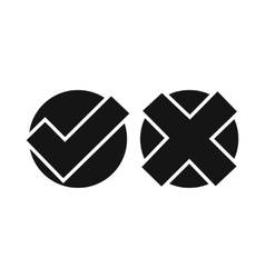 yes no check marks icon simple style vector image