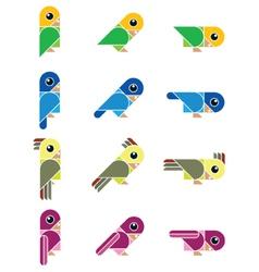 birdy isolated vector image